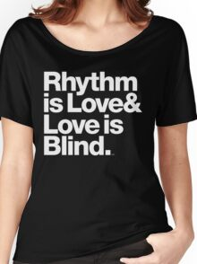 André Cymone Love to Dance Electric Helvetica Threads Women's Relaxed Fit T-Shirt