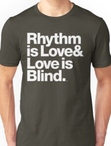 André Cymone Love to Dance Electric Helvetica Threads Unisex T-Shirt