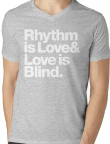 André Cymone Love to Dance Electric Helvetica Threads Mens V-Neck T-Shirt