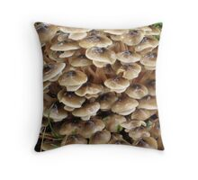 Toadstool village Throw Pillow