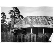 Black and white cottage Poster