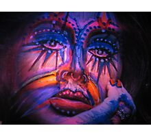 The Lady Of Shiny Spirit Colors Photographic Print