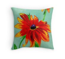 Ocean Ripples Birthday Flowers Throw Pillow