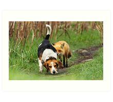 Probably the world\'s worst hunting dog Art Print