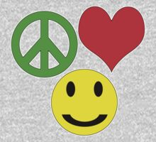 peace, love and happiness One Piece - Long Sleeve