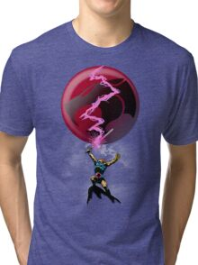EPIC THUNDER SWORD SCENE Tri-blend T-Shirt