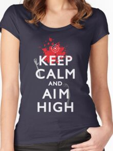 Keep Calm and Aim High Women's Fitted Scoop T-Shirt