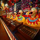 laughing clowns at Luna Park by Benjamin Whealing