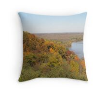 Mississippi River Fall in Hannibal, MO Throw Pillow