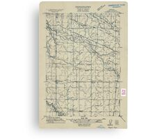USGS Topo Map Oregon Tangent 282190 1911 31680 Canvas Print