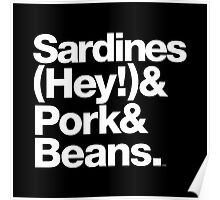 Sardines & Beans Junkyard Chuck Brown Helvetica Threads Poster