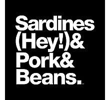 Sardines & Beans Junkyard Chuck Brown Helvetica Threads Photographic Print