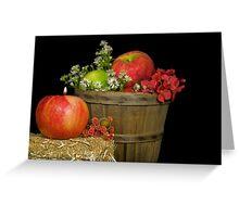 Autumn Apples Greeting Card