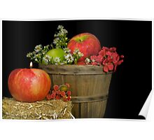 Autumn Apples Poster