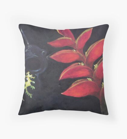 Helikonia of the Sea Throw Pillow