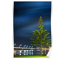 Forster Lake by Night Poster