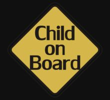 Child on board auto car bumper sticker Baby Shower Gift sign poster by deanworld
