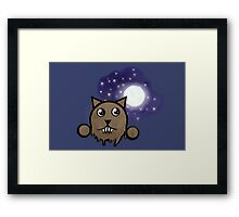 Werewolf Emoticon  Framed Print