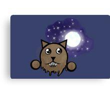 Werewolf Emoticon  Canvas Print