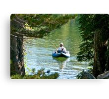 For the Love of Fishing Canvas Print