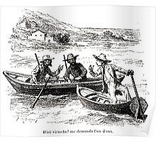 Achille Sirouy Mark Twain Les Aventures de Huck Huckleberry Finn illustration p108 Poster