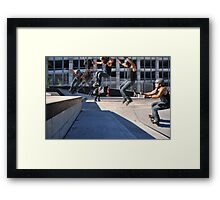 Wall Ride in a Concrete world of Walls Framed Print
