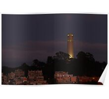 the Fire of Coit Tower Poster