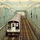 Sequence no.9 New York City Subway, Williamsburg Bridge, Brooklyn by Mon Zamora