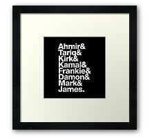 The Roots & Questlove Helvetica Ampersand Merch Framed Print