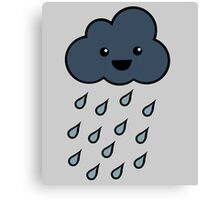 Happy Rain Cloud 3 Canvas Print