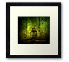 Abandoned Train Lantern Framed Print