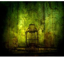 Abandoned Train Lantern Photographic Print