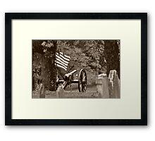 Sherman's Cannon  Framed Print