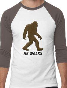 HE WALKS  Men's Baseball ¾ T-Shirt