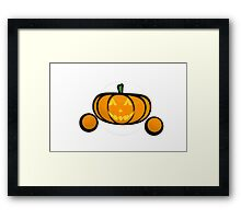 Jack-O-Lantern Emoticon  Framed Print