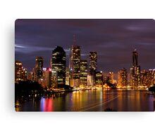 Brisbane City, Australia at night Canvas Print