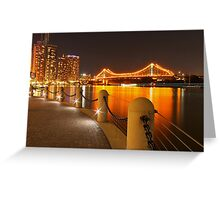 Story Bridge, Brisbane at night Greeting Card