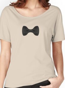 Simple Black Bow Tie Musician Women's Relaxed Fit T-Shirt