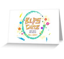 blip and chits Greeting Card