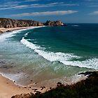 Porthcurno Beach by Rob Hawkins