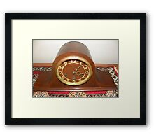 Seth Thomas Western Chime Clock  ~  1934 Framed Print