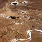 Flying Over Outback South Australia including Lake Eyre by haymelter