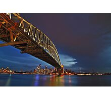 Sydney Harbor Bridge Late Thunder Storm Photographic Print
