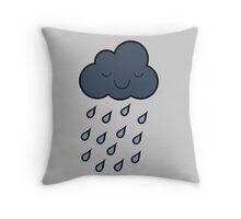 Happy Rain Cloud 4 Throw Pillow