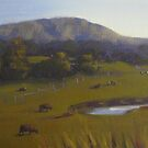 Afternoon grazing, Hunter Valley by Tash  Luedi Art