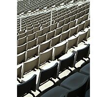 Plastic Chair Set Seats Rows Stadium II Photographic Print