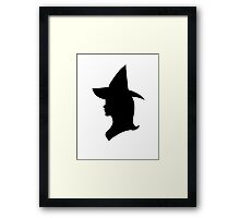 Witch Victorian Silhouette Framed Print