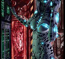 Cyberpunk Painting 068 by Ian Sokoliwski