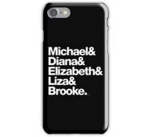 Michael Jackson & Diana Ross & Liz Taylor iPhone Case/Skin