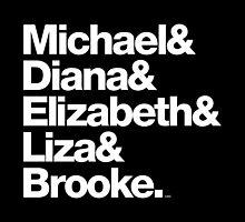 Michael Jackson & Diana Ross & Liz Taylor by juk8ox